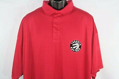 NBA Toronto Raptors Men's Sz 3XL Performance Polo Shirt Red -NWT by Majestic