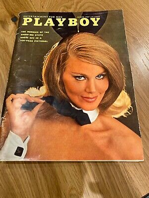 Vintage Playboy Magazine March 1967 Sharon Tate with CENTERFOLD