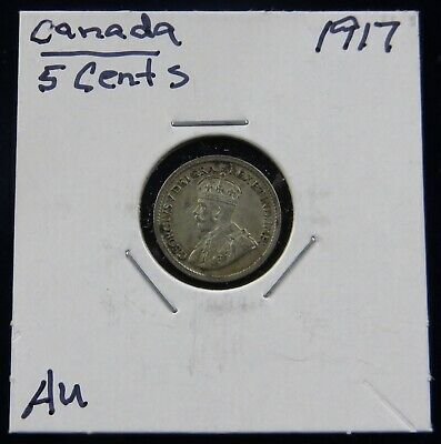 2 Canada Silver Coins: 1917 & 1928 25 Cents, King George V