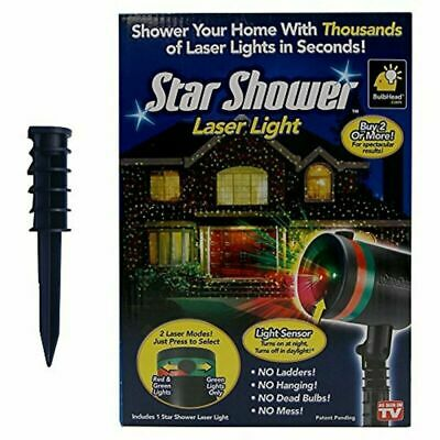 Star Shower Laser Light Projector Christmas Indoor Outdoor Covers Over 3000 Sq