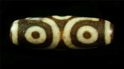Fine Old Indo Nepal Tibetan Etched Carnelian Loose Bead Dzi 6-Eye ~ Smooth