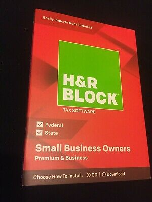 H&R Block TAX Software PREMIUM & Small BUSINESS Owners 2018 CD/Download*Fed & ST
