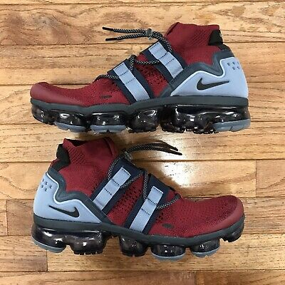 Nike Air Vapormax Utility Team Red Obsidian Blue Mens Sz 10 AH6834-600 Patriots