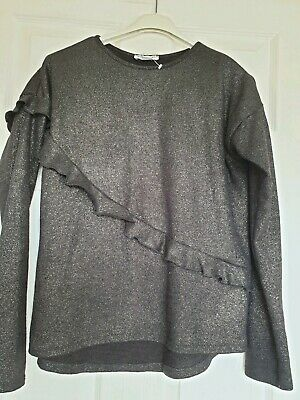 Never Worn Primark Girls Black Glittery Jumper Age 14 – 15- Years