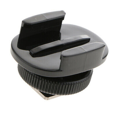 """Flash Light Hot Cold Shoe Mount Adapter w// 1//4/"""" Thread Hole for Gopro //SLR"""