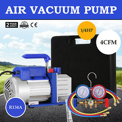 4CFM 1/3HP Single Stage Vacuum Pump Air Conditioning Refrigeration Vacuum