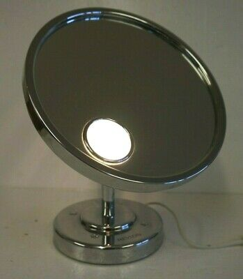 Revlon Silver Coloured Round Make-Up/ Cosmetic Mirror with Light