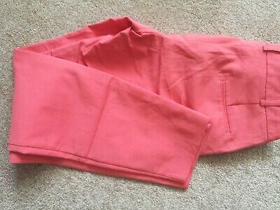 LADIES/girls NEXT SALMON PINK CHINOS TROUSERS SIZE 8R