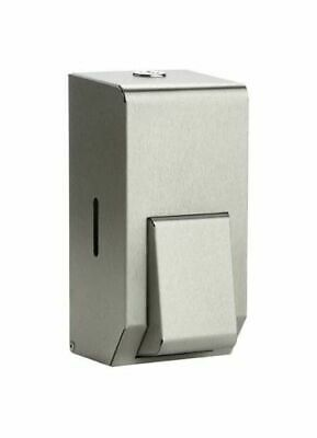 * Brushed Stainless Steel 900ml Liquid Soap Dispenser Wall Mounted *