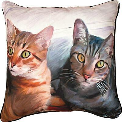 Sweepo & Toney 2 Cats Pillow