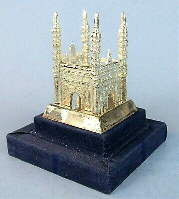 Charminar Mosque India Vintage Metal Souvenir Building Replica In Display Case