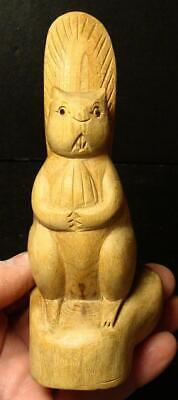 Highly Detailed Hand Carved Folk Art Beaver-Carved From Cypress Tree Root