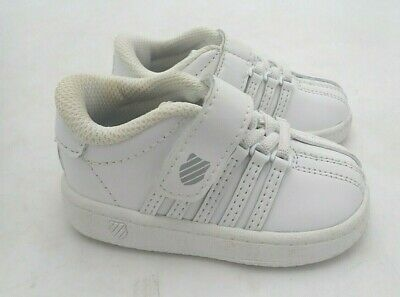 K Swiss Classic VN White White Leather Youth Size 4 to 7 New In Box  83343 101