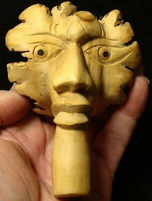 Highly Detailed Hand Carved Folk Art African American Face-Cypress Tree Root