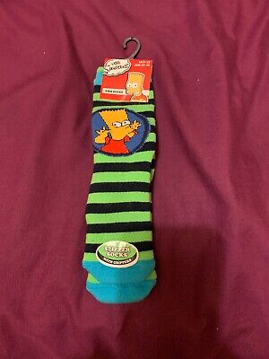 BNWT boys Size 9-12 Slipper Socks The Simpsons Bart Simpson