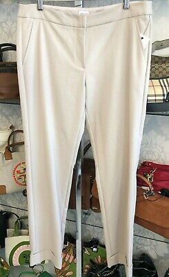 ARMANI COLLEZIONI Tan/Beige Straight Leg/Flat Front Dress Pants Sz 10 $575