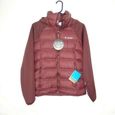 Womens S-M-L COLUMBIA EXPLORER FALLS HYBRID DOWN INSULATED JACKET
