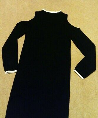 Girls New Look Black Cold Shoulder Jumper Dress Aged 12-13 Years
