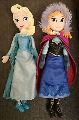 Genuine Disney Store Frozen plush Elsa and Anna dolls soft toys 20 inch 50 cm