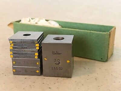 Lot of 10 Starrett-Webber Croblox Gage Blocks