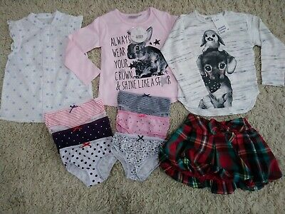 Girls tops T-shirts skirt briefs knickers mixed bundle 2-3 years