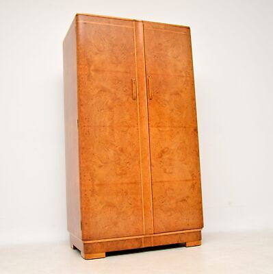 1920's Art Deco Burr Walnut Compactum Wardrobe