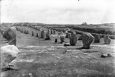CARNAC Standing Stones Antique Photographic Glass Negative c1910s (Brittany)