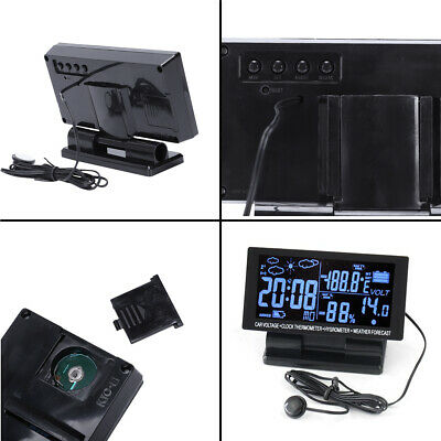 4in1 Large LCD Digital Clock Thermometer Temperature Auto Car Meter Gauge DC 12V