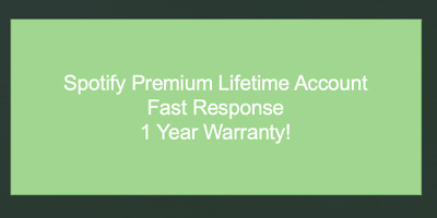 Spotify Account Fast Support 1 Year Warranty!