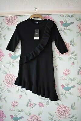 Girls Bnwt Next Age 8 Years Jumper Dress With Navy Frill