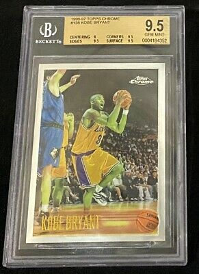 1996-97 Kobe Bryant Topps Chrome Bgs 9.5. Rookie #138 Graded Gem Mint Rc !