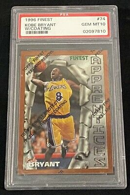 1996-97 Topps Finest Kobe Bryant Psa 10 #74 Gem Mint Graded Rookie Card Lakers !