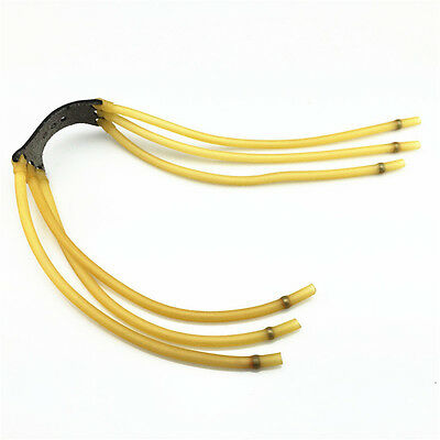 """5Pcs L:43cm//16.93/"""" Yellow Rubber Band for Slingshot Catapult Ruber Rope Hunting"""