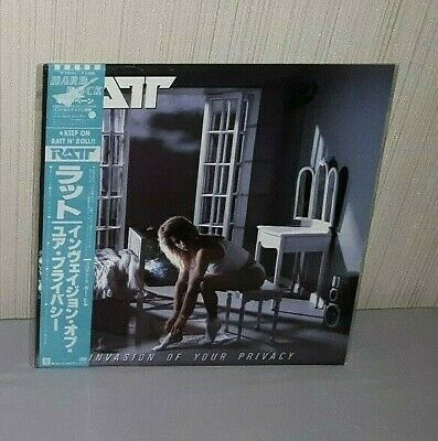 """Ratt """"Invasion Of Your Privacy"""" Original Japanese Pressing With Obi Nice!"""