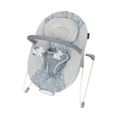 Baby Trend EZ Baby Bouncer with 2 Hanging Toys and Calming Vibrations, Ziggy