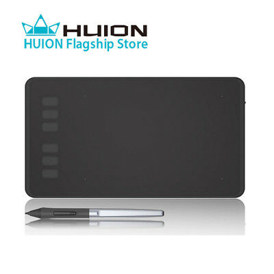 USED Huion H640P USB Graphics Drawing Pen Tablet 8192 Batteryfree Stylus 6.3×3.9