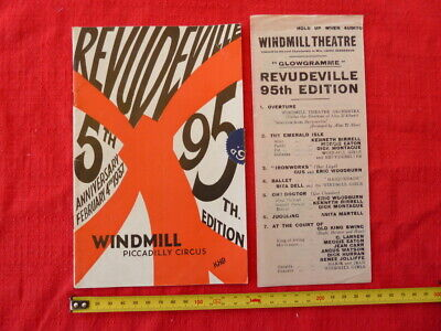 1937 Windmill Theatre Programme, Piccadilly Circus London