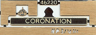 MODELMASTER Etched Nameplates  D821 Greyhound 4mm suit Bachmann Red 00