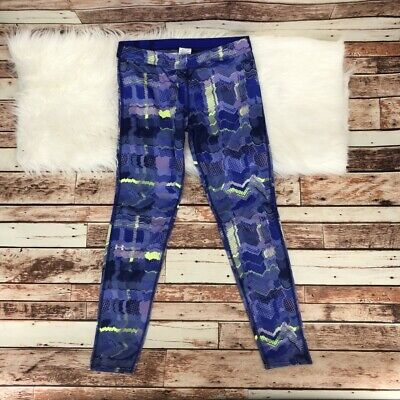 Under Armour Youth Girls Geometric Skinny Athletic Legging Sz XL Purple Blue