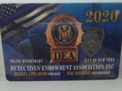 2020 Nypd Dea Detective Cards *Three*!  Three Cards!!!!