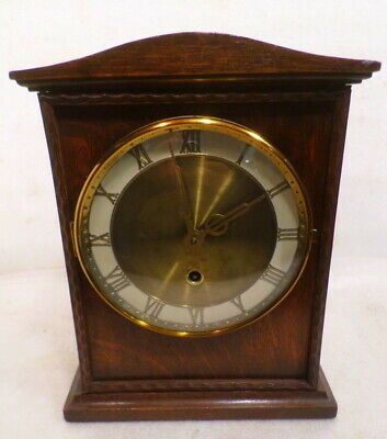 German Eight Day Mantle Clock With Roman Numerals