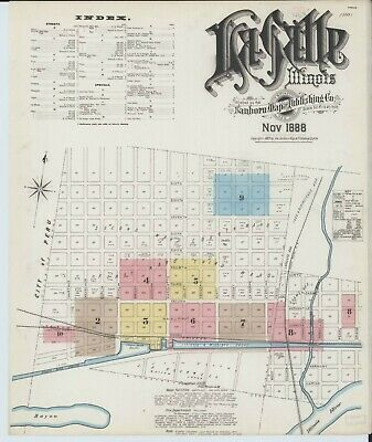 La Salle, Illinois~Sanborn Map© sheets on a CD~65 maps in color~1888 to 1911