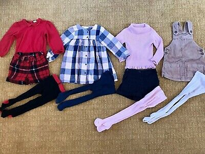 Baby Girls Next Bundle Age 12-18 Months Top Dress Shorts Tights Roll Neck Pink