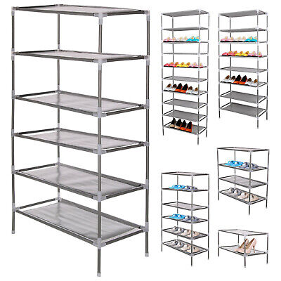 2/4/6/8/10 Tier Shoe Storage Rack Organiser Cabinet Shelf F/ 6/12/18/24/30 Pairs