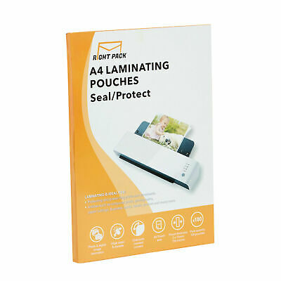 100 A4 Laminating Pouches Gloss Laminator Laminate Sheets Sleeves 150 Micron