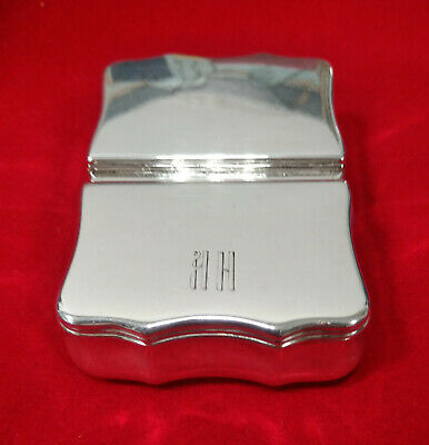 RUSSIAN SILVER STERLING SILVER BOX 1855 Hallmarked SIgned фB Very Good+