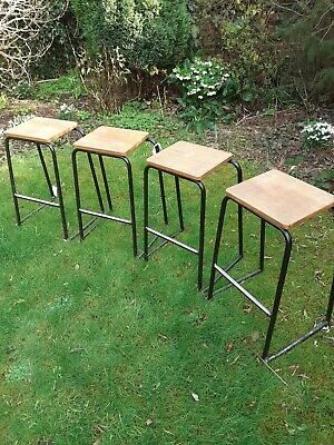 Vintage school lab stools
