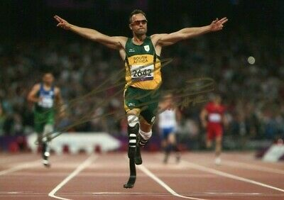 OSCAR PISTORIUS *PARALYMPIC SPRINTER* Athlete 7x5 Signed Autograph Photo
