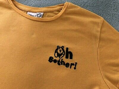Primark DISNEY Winnie The Pooh Oh Bother Yellow T-Shirt Top Size 4/6