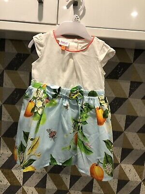 Ted Baker Baby Girls Blue Mix Dress Age 6-9 Months Fab Condition